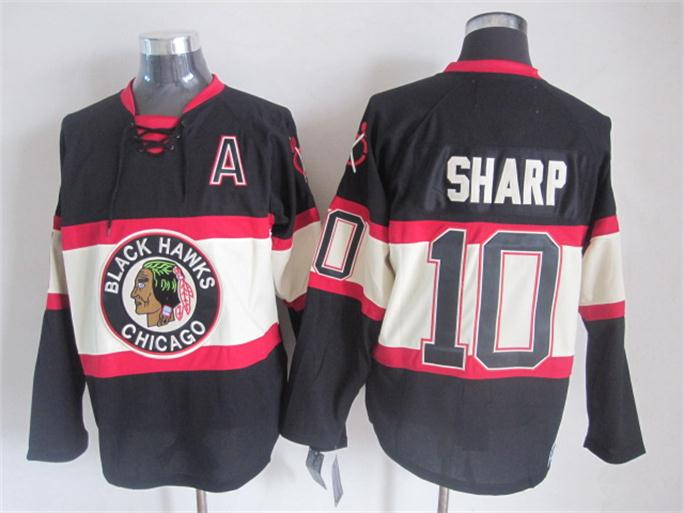 NHL 2015 Chicago Blackhawks 10 Sharp Black Jerseys