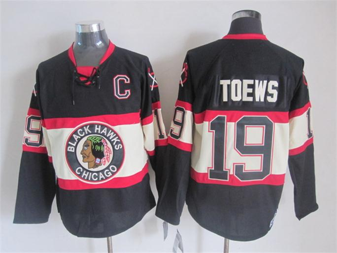 NHL 2015 Chicago Blackhawks 19 Toews Black Jerseys