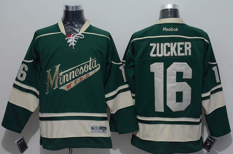 NHL 2015 Minnesota Wild 16 Zucker Greenn Jersey