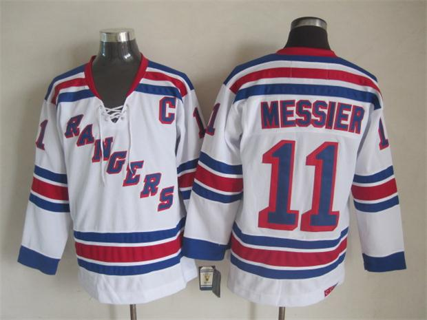 NHL 2015 New York Rangers 11 Messier White Jersey