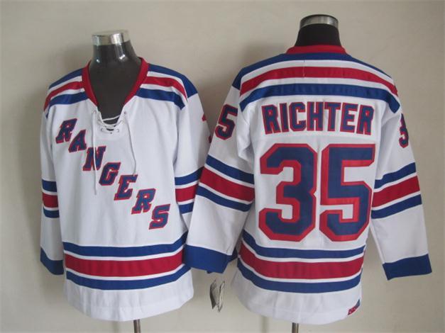 NHL 2015 New York Rangers 35 Richter White Jersey