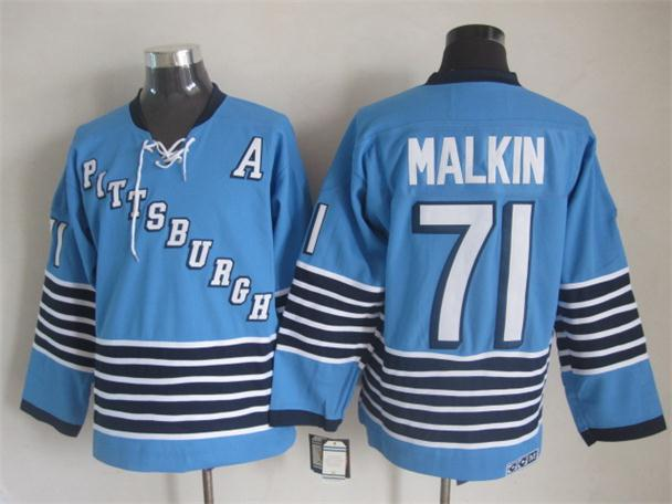 NHL 2015 Pittsburgh Penguins 71 Malkin Blue Jerseys