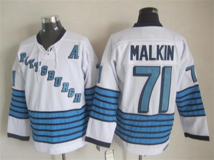 NHL 2015 Pittsburgh Penguins 71 Malkin White Jerseys
