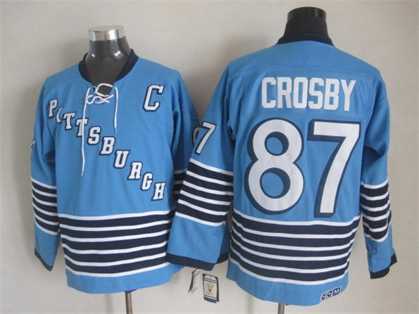 NHL 2015 Pittsburgh Penguins 87 Crosby Blue Jerseys