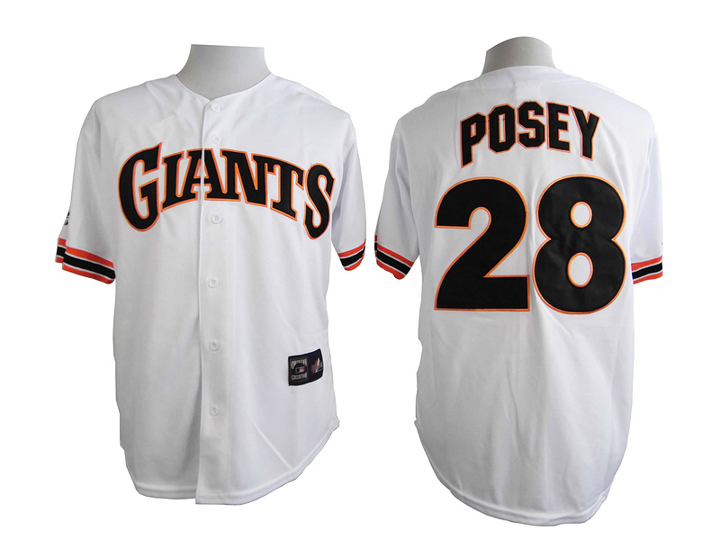 San Francisco Giants 28 Posey White Turn The Clock 1989 Jersey