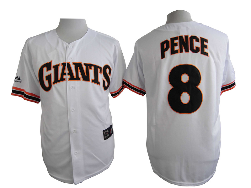 San Francisco Giants 8 Pence White Turn The Clock 1989 Jersey