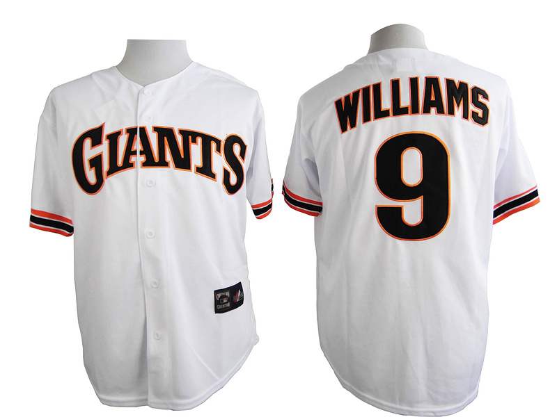 San Francisco Giants 9 Williams White Turn The Clock 1989 Jersey
