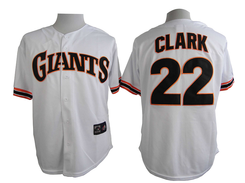 San Francisco Giants 22 Clark White Turn The Clock 1989 Jersey