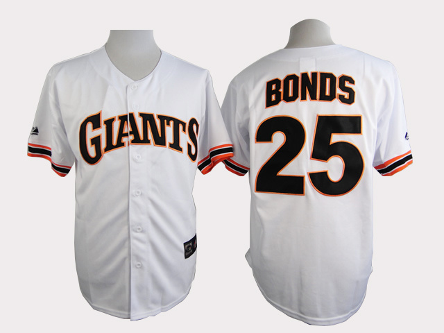 San Francisco Giants 25 Bonds White Turn The Clock 1989 Jersey