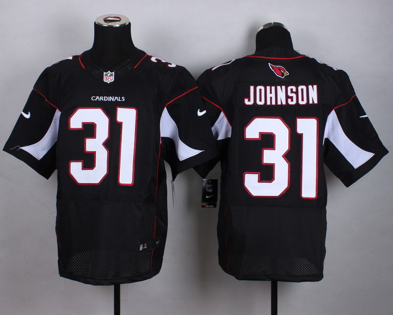 Arizona Cardinals 31 Johnson Black 2015 New Nike Elite Jerseys