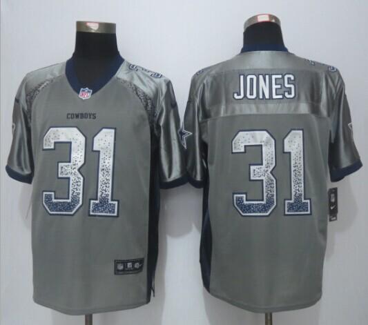Dallas cowboys 31 Jones Drift Fashion Grey 2015 New Nike Elite Jerseys