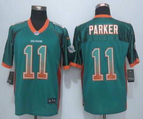 Miami Dolphins 11 Parker Drift Fashion Green 2015 New Nike Elite Jerseys