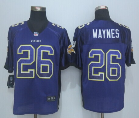 Minnesota Vikings 26 Waynes Drift Fashion Purple 2015 New Nike Elite Jerseys