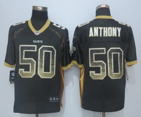 New Orleans Saints 50 Anthony Drift Fashion Black 2015 New Nike Elite Jerseys