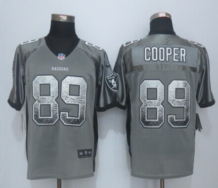 Oakland Raiders 89 Cooper Drift Fashion Grey 2015 New Nike Elite Jerseys