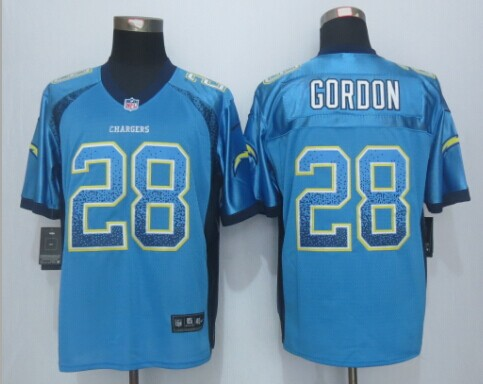 Los Angeles Chargers 28 Gordon Drift Fashion Blue 2015 New Nike Elite Jerseys