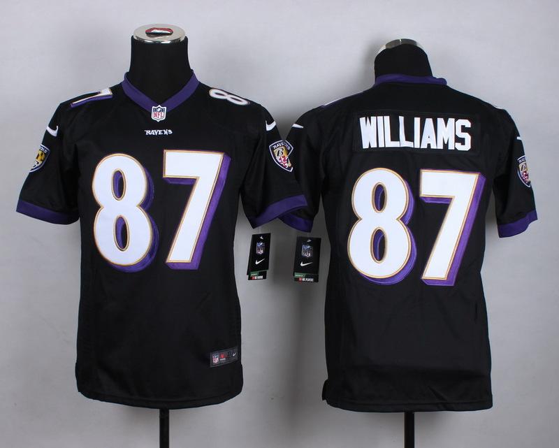 Youth Baltimore Ravens 87 Willams Black 2015 New Nike Jerseys