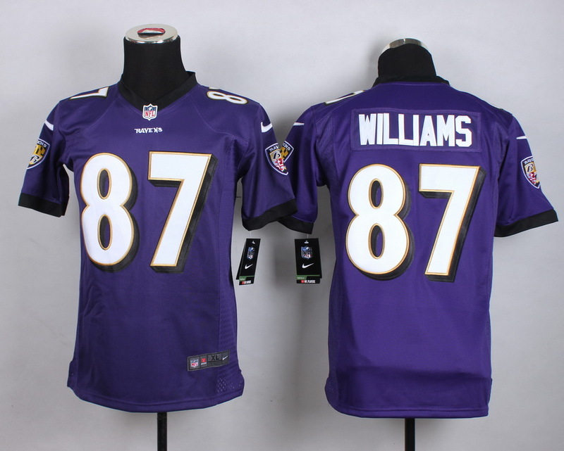 Youth Baltimore Ravens 87 Willams Purple 2015 New Nike Jerseys