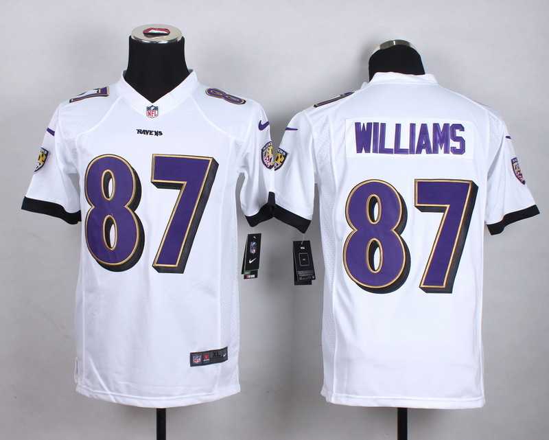 Youth Baltimore Ravens 87 Willams White 2015 New Nike Jerseys