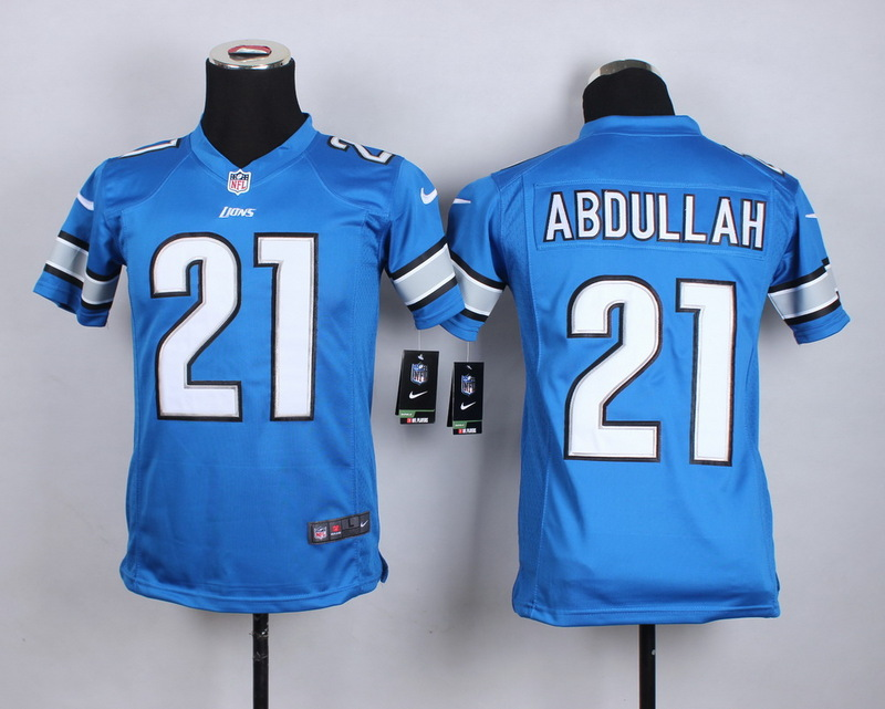 Youth Detroit Lions 21 Abdullah Blue 2015 New Nike Jerseys