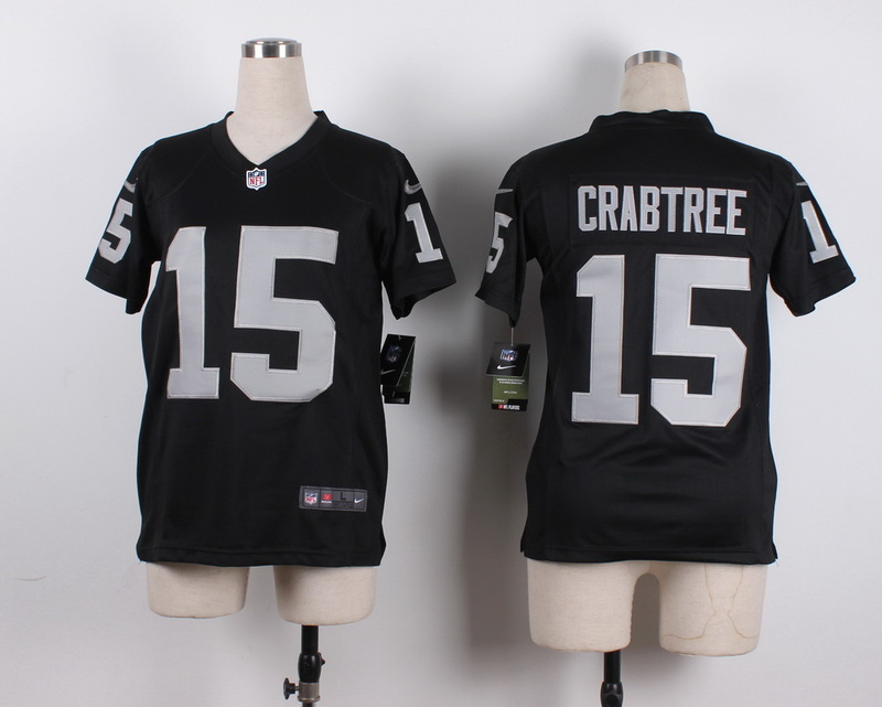 Youth Oakland Raiders 15 Crabtree Black 2015 New Nike Jerseys