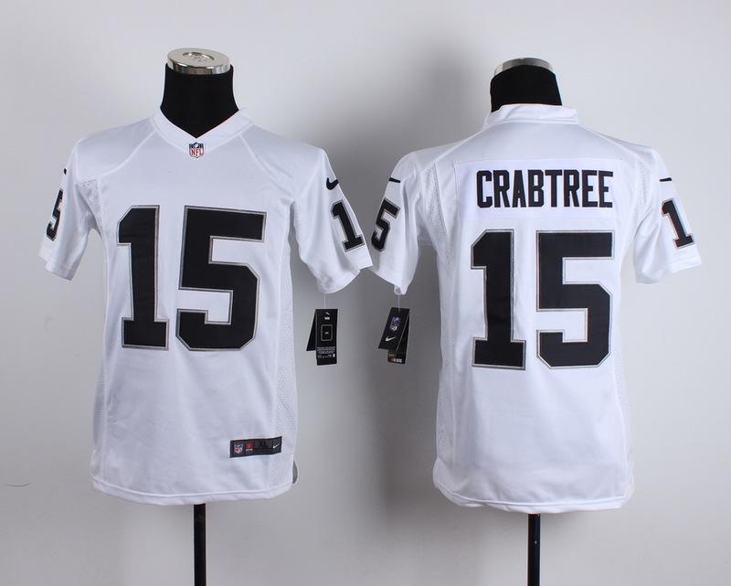 Youth Oakland Raiders 15 Crabtree White 2015 New Nike Jerseys