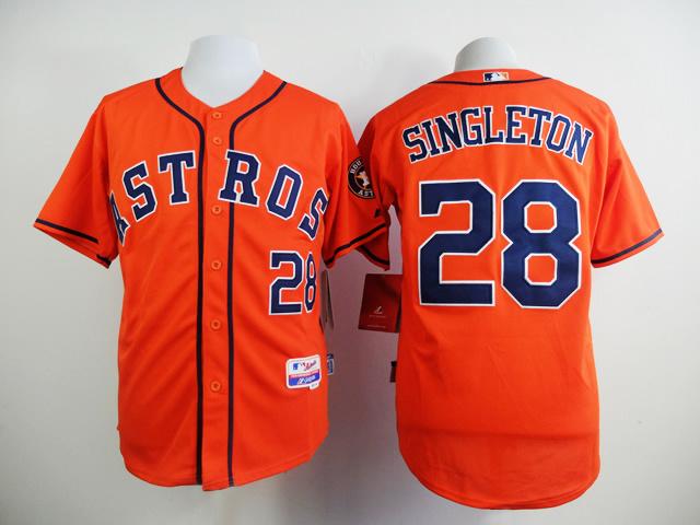 MLB Houston Astros 28 SINGLETON Orange 2015 New Jersey
