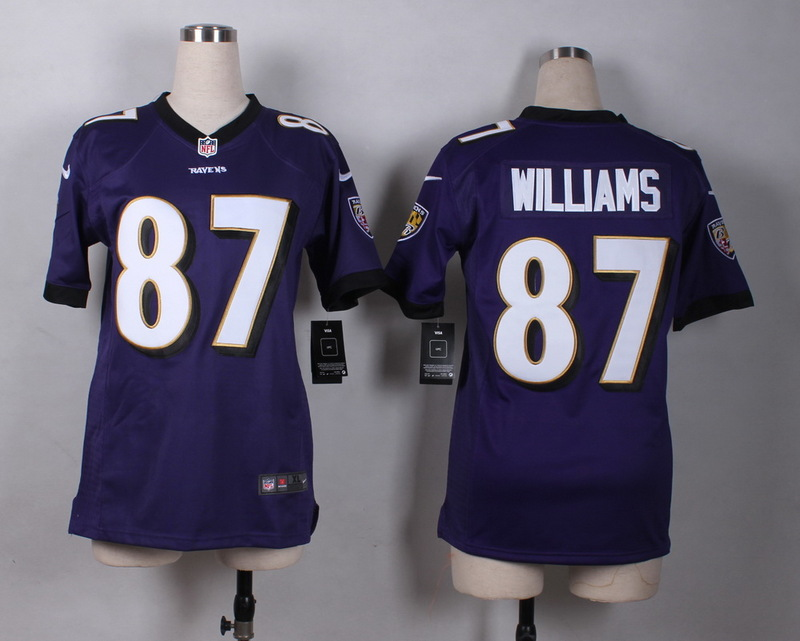Womens Baltimore Ravens 87 Willams Purple 2015 New Nike Jerseys