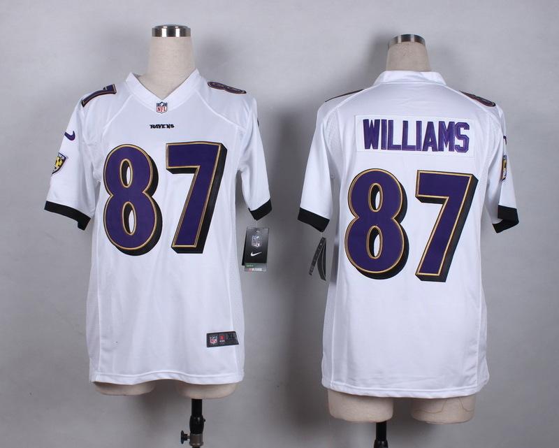 Womens Baltimore Ravens 87 Willams White 2015 New Nike Jerseys
