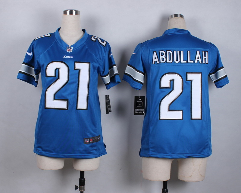 Womens Detroit Lions 21 Abdullah Blue 2015 New Nike Jerseys