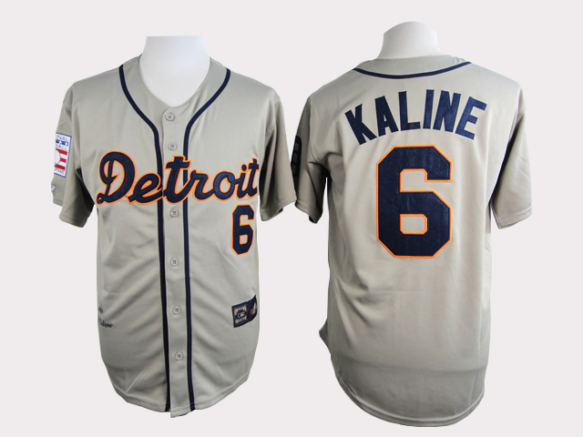 MLB Detroid Tigers 6 Kaline Grey Jersey