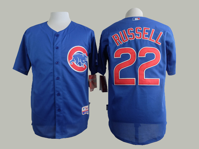 MLB Chicago Cubs 22 Russell Blue 2015 Jersey