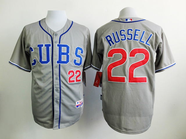 MLB Chicago Cubs 22 Russell Grey 2015 Jersey