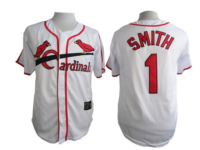 MLB St. Louis Cardinals 1 Smith White 2015 Jersey
