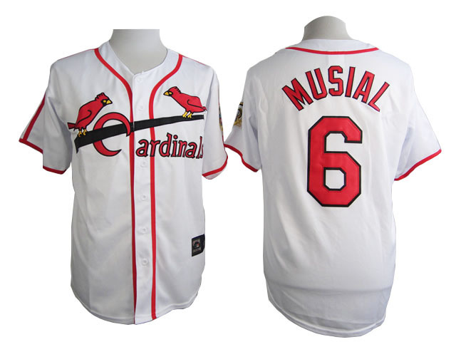 MLB St. Louis Cardinals 6 Musial White 2015 Jersey