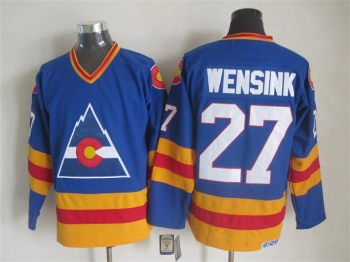 NHL Colorado Avalanche 27 wensink blue CCM Throwback Jersey