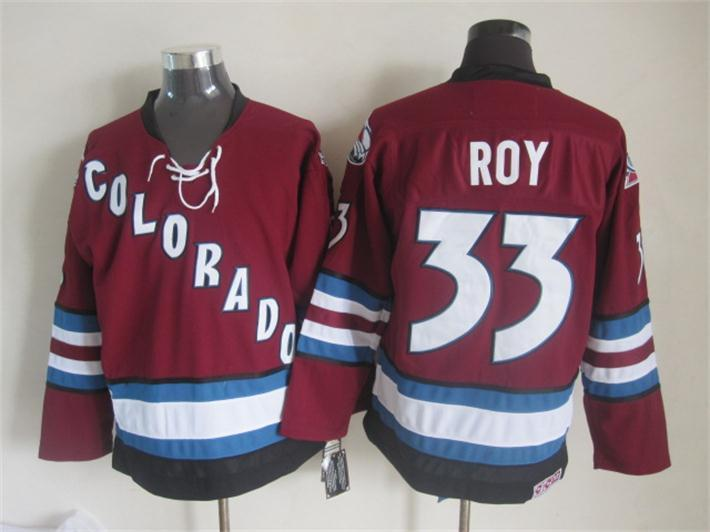 NHL Colorado Avalanche 33 roy red Third Jersey