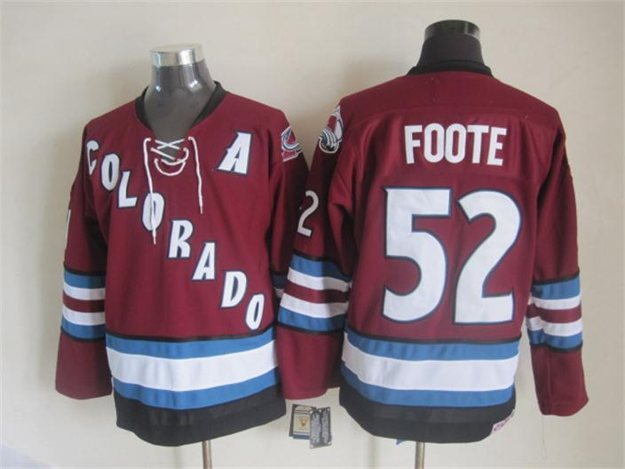 NHL Colorado Avalanche 52 foote red Third Jersey