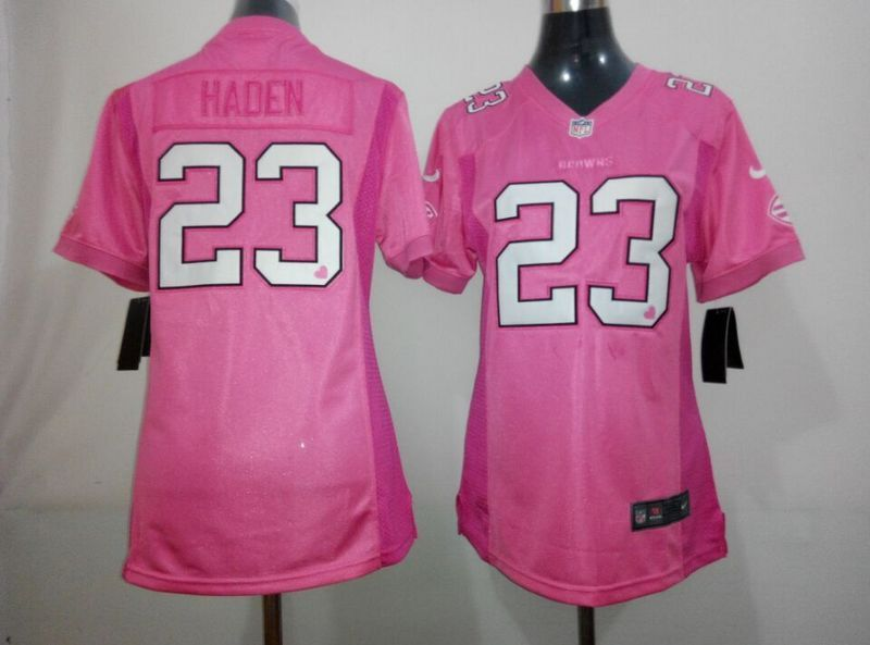 Womens Cleveland Browns 23 Haden Pink 2015 Nike Jerseys