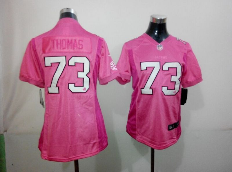 Womens Cleveland Browns 73 Thomas Pink 2015 Nike Jerseys