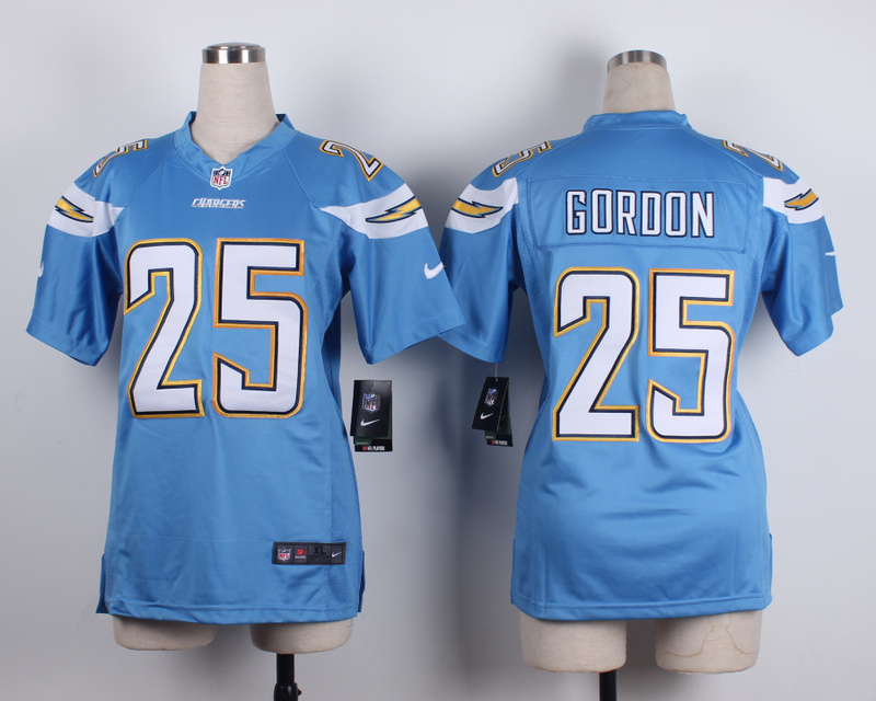 Womens San Diego Chargers 25 Goroon baby blue 2015 New Nike Jerseys