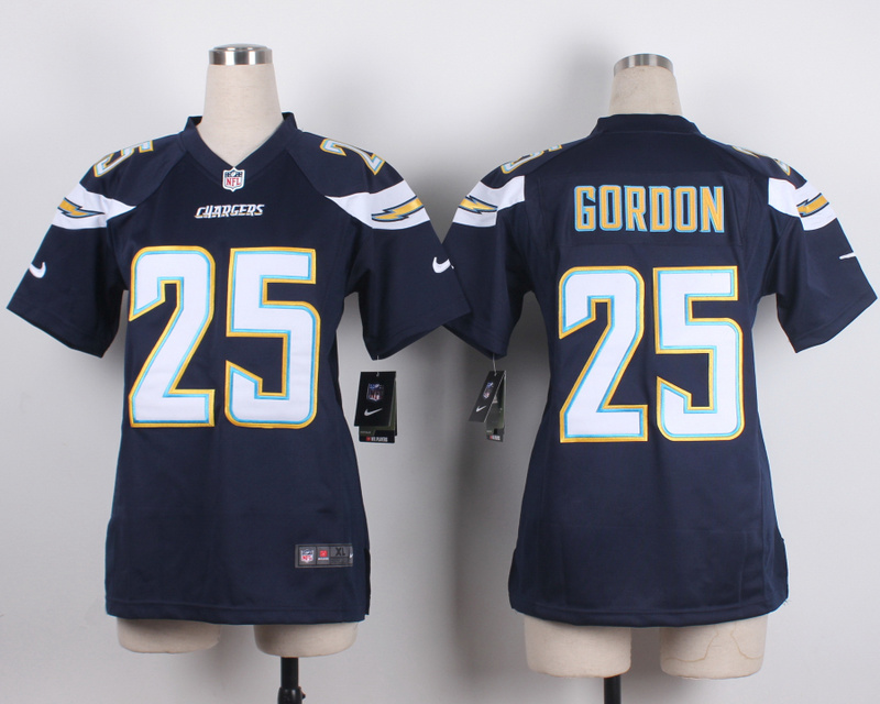 Womens San Diego Chargers 25 Goroon Blue 2015 New Nike Jerseys