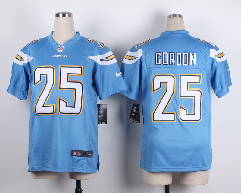 Youth San Diego Chargers 25 Goroon baby blue 2015 New Nike Jerseys