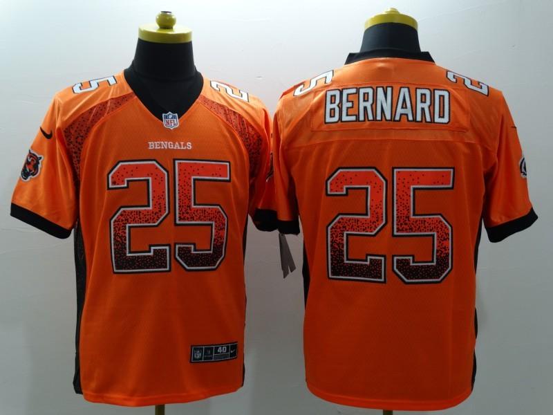 Cincinnati Bengals 25 Bernard Orange 2015 Nike Elite Drift Fashion Jersey