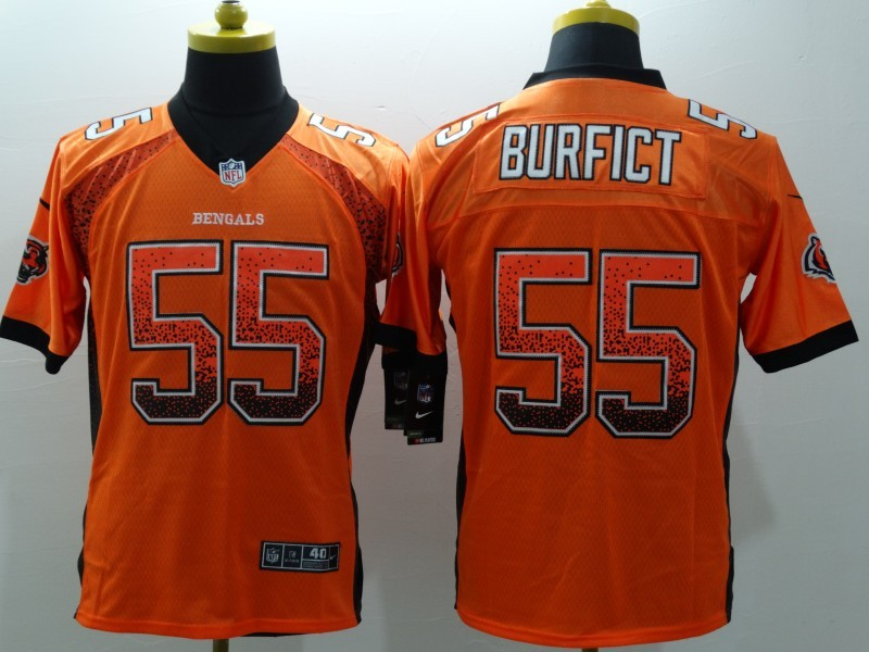 Cincinnati Bengals 55 burfict Orange 2015 Nike Elite Drift Fashion Jersey