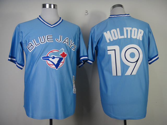MLB Toronto Blue Jays 19 Paul Molitor 1993 Home Jersey