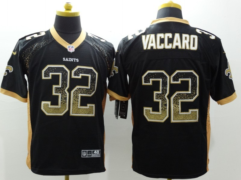 New Orleans Saints 32 Vaccaro Black 2015 Nike Elite Drift Fashion Jersey