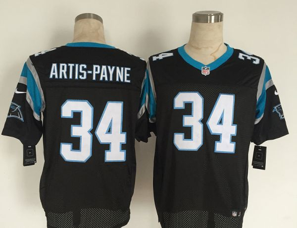 Carolina Panthers 34 Artis-Payne Black Men Nike Elite Jerseys