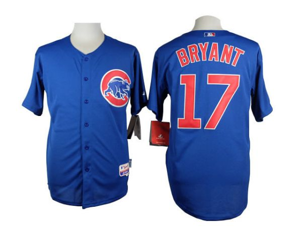 MLB Chicago Cubs 17 Bryant blue 2015 Jersey