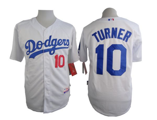 MLB Los Angeles Dodgers 10 Turner White 2015 Jerseys